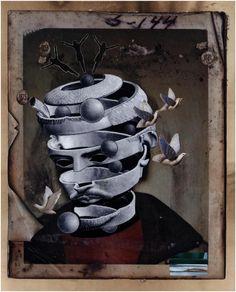 Utrata wiary, [collage 25 x 20 cm], X 2016