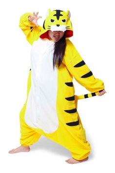 9cabcc6ccf Fierce Tiger Kigurumi Onesie Fleece Pajamas