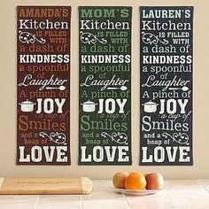 Kitchen Recipe Canvas   Cooking Gifts