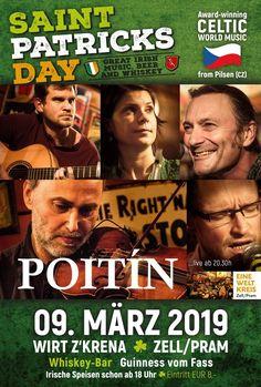 Poitín beim St. Patricks Day 2019 – EWK-Zell Guinness, Album, St Patricks Day, Movies, Cards, Movie Posters, Celtic Music, Irish, Exploring
