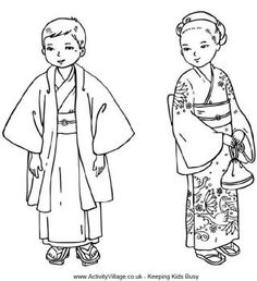 Japanese children colouring page (thinking day? Boys Day, Child Day, Japanese Culture, Japanese Art, Japanese Kimono, Colouring Pages, Coloring Books, Kids Colouring, Colouring Sheets