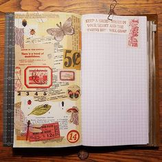 Collage... #journal #journalinsert #journaling #journaltime #timetowrite #artjournal #collage #midoritravelersnotebook #travelerscompany #travelersnotebook #whatsinmynotebook #vintage #labels #tickets #stamps #poststamps #mtn #tn #chamilgarden #ephemera #stickers #washitape #washi #maskingtape
