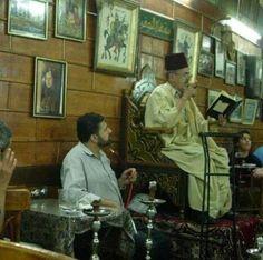 حكواتي....syrian story teller in old damascus coffee shop.  Al- Hakki!!  My favorite memory from Syria!