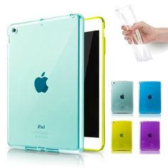 Clear TPU Jelly Gel Rubber Soft Skin Case Cover For New Apple iPad Mini 2 Retina