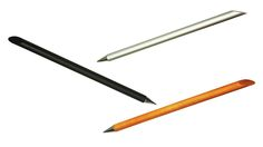 Axel Design Beta Inkless Pens Half Pen, half pencil, this an eco-friendly device...it lays down a grey line that resembles a pencil using a tip made of lead and metal alloy..doesn't smudge, or erase, no refills, sharpen with fine sandpaper