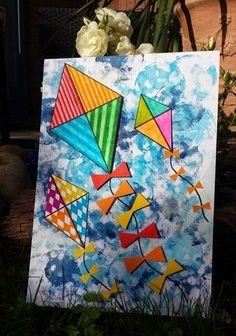 Juf Jaydee: augustus 2014 Juf Jaydee: augustus 2014 The post Juf Jaydee: augustus 2014 appeared first on Knutselen ideeën. Kites Craft, Art N Craft, Spring Art Projects, School Art Projects, Summer Crafts, Summer Art, Art For Kids, Drawing For Kids, Kindergarten Art Lessons