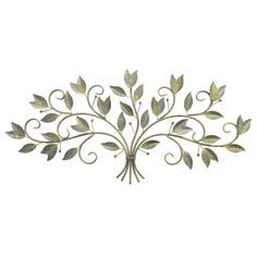Lend a touch of organic-inspired style to your living room or den with this lovely metal wall decor, showcasing scrolling vines and a green finish. Product: Wall decor Construction Material: MetalColor: GreenFeatures: Scrolling vinesDimensions: H x W x D Metal Leaf Wall Art, Metal Flower Wall Decor, Metal Wall Sculpture, Floral Wall, Wall Sculptures, Starburst Wall Decor, Medallion Wall Decor, Plate Wall Decor, Tree Wall Decor