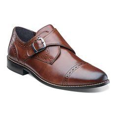 Nunn Bush® Newton Mens Monk-Strap Cap-Toe Leather Dress Shoes - JCPenney b9402ea90
