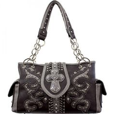 Concealed Carry Cross Buckle Handbag – Handbag Addict.com