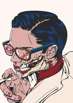 Aspect - Pop Art inspired illustration (by RUDCEF). Art And Illustration, Comic Illustrations, Pop Art Vintage, Pop Art Zombie, Zombie Girl, Zombie Drawings, Character Art, Character Design, Pop Art Girl