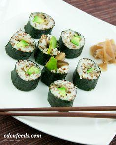 Rice & Red Quinoa Sushi #recipe