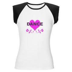 "Our ""Dance Heart' women's cap sleeve tee: http://www.cafepress.com/dancerspace.508438062"