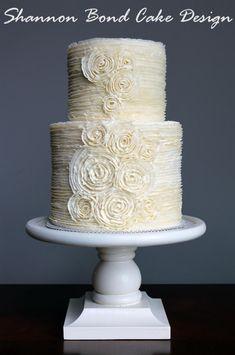 Romantic Buttercream Ruffle Wedding Cake - Cake by Shannon Bond Cake Design
