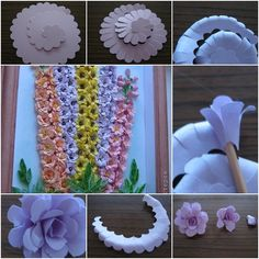 Quilling large paper flowers http://www.fabartdiy.com/how-to-make-beautiful-quilling-paper-flower-wall-art/