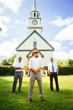Chris J. Evans Photography Maui Wedding groom and groomsmen. www.cjevansphotography.com