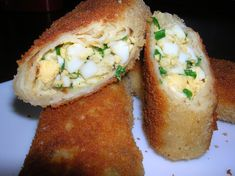 Kulinarne życie: Krokiety z jajkami Baked Potato, Potatoes, Baking, Ethnic Recipes, Food, Potato, Bakken, Essen, Meals