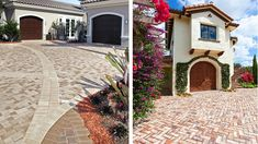 Explore what different paving angels, a mixture of textures, color combinations and custom inlays can do to completely transform your outside living space. Outside Living, Outdoor Living, Paving Design, Driveway Paving, Pattern Mixing, Living Spaces, Design Ideas, Texture, Mansions
