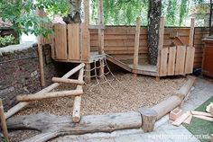 Climbing structure for smaller kids Playground Build & Design | Natural, Wood | EarthWrights
