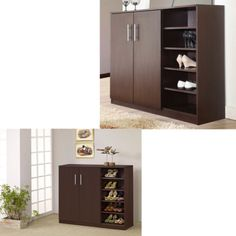 Shoe-Cabinet-Organizer-Storage-Wood-Rack-Shelf-Closet-Portable-Entryway-Home