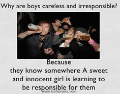 why #boys are #careless & #irresponsible???  www.fullonsms.com Innocent Girl, Learning To Be, Funny Stuff, No Response, Memes, Boys, Funny Things, Baby Boys, Meme