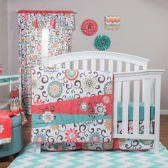 Trend Lab Waverly Baby Pom Pom Play 4-Piece Crib Bedding Set