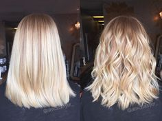 Blonde balayage on naturally orange hair! Cream-cicle! Cut & color by Alexandria!