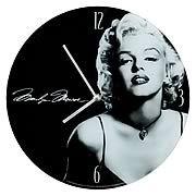 Marilyn Monroe Glass Wall Clock - http://lopso.com/interests/clocks/marilyn-monroe-glass-wall-clock/