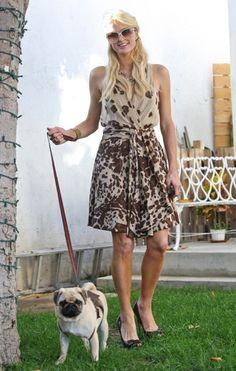 Paris Hilton goes shopping with Mugsy