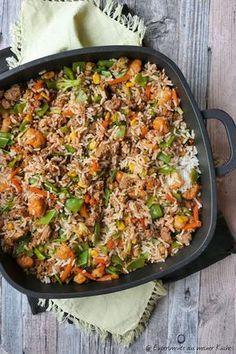Schnelle Reispfanne mit Hackfleisch