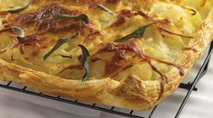 This Tre Stelle Mozzarella, Onion and Potato Galette makes a savoury side or snack. #ALoveAffairWithCheese #Galette