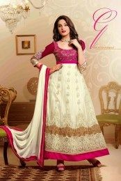 Fantastic White Color Two In One Lehenga With Gorgeous Embroidery