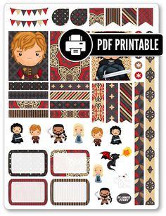 Trônes PDF Kit d'organisation autocollants de par PlannerPenny