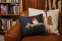 unique, handmade pillows by evuska