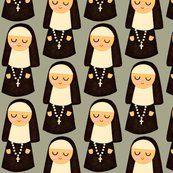Nuns On Grey fabric designed by Heidi Kenney on Spoonflower.