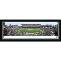 Philadelphia Eagles - 50 Yard Line at Lincoln Financial Field - Blakeway Panoramas NFL Print with Select Frame and Single Mat