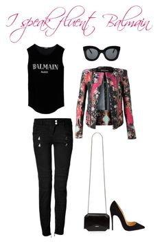 """""""fluent balmain v1"""" by iamminx on Polyvore featuring Balmain, CÉLINE, Givenchy, Christian Louboutin, women's clothing, women, female, woman, misses and juniors"""