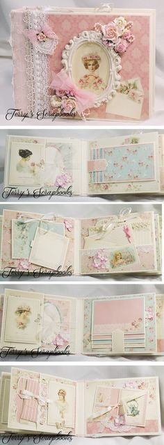 Terry makes BEAUTIFUL mini albums! Terry's Scrapbooks: Pion Designs Paris Flea Market Scrapbook Mini Albu...