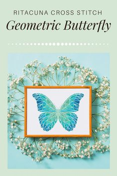 Gorgeous colors of butterfly#crossstitchpattern #crossstitch #xstitchxstitchpattern #ritacuna #geometric#geometricbutterfly #butterflypattern#diyideas #puntocroce #puntocruz #diydecor#blue #butterfly #insectdesign #butterfly#walldecor