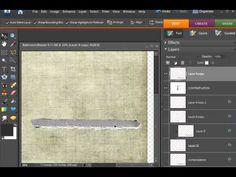 Digital Scrapbooking - Layered Torn Text Tutorial