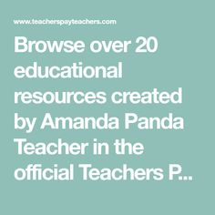 Browse over 20 educational resources created by Amanda Panda Teacher in the official Teachers Pay Teachers store. Texas Teacher, Best Teacher, Science Lessons, Science Education, Primary Classroom, Google Classroom, Classroom Decor, Teaching Music, School Counselor