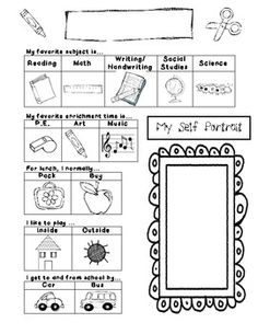 Student Reflections Page: Great for Report Card time