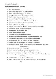 One-click print document German Language, Exercise For Kids, Kindergarten, Worksheets, Activities For Kids, Education, Homeschooling, Free, Animals