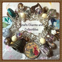 Love to Sew, sewing, altered art charm bracelet, handmade, #ooak, #bostoncharm, ebsq - pinned by pin4etsy.com
