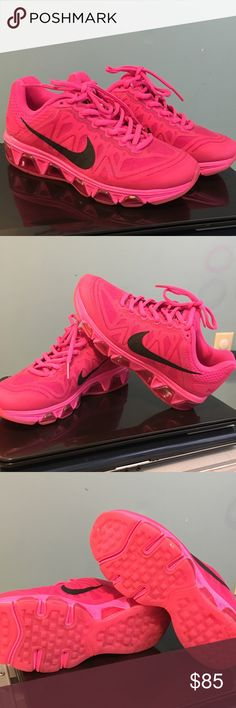 Pink Nike Only worn once, Nike Air Max Tailwind. In excellent condition. Run small so will fit 5.5. Don't have the box, but can be shipped in a Nike box. Nike Shoes Athletic Shoes