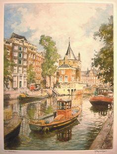 Kunsthandel & Galerie R. Anton Pieck, Amsterdam Art, Dutch Golden Age, Fishing Villages, Ship Art, City Art, 17th Century, Monet, Van Gogh