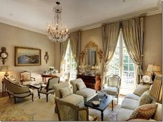Country French Living Room Beautiful Homes Design | Best Family Rooms Design