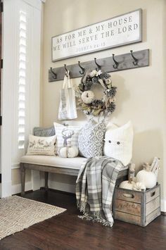 Living Room Decoration Ideas For The Black And White Lovers Farmhouse Side Table, Country Farmhouse Decor, Rustic Decor, Farmhouse Ideas, Rustic Design, Farmhouse Living Room Decor, Modern Farmhouse, Farmhouse Style Furniture, Country Furniture