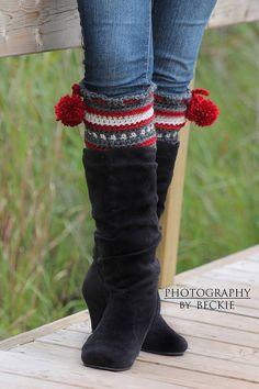 Dylan Leg Toppers Boot Cuffs/Leg Warmers Crochet by BySincerelyPam, $5.00