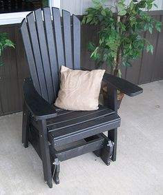 Black Adirondack Glider Chair
