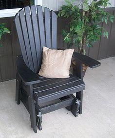 Black Adirondack Glider Chair
